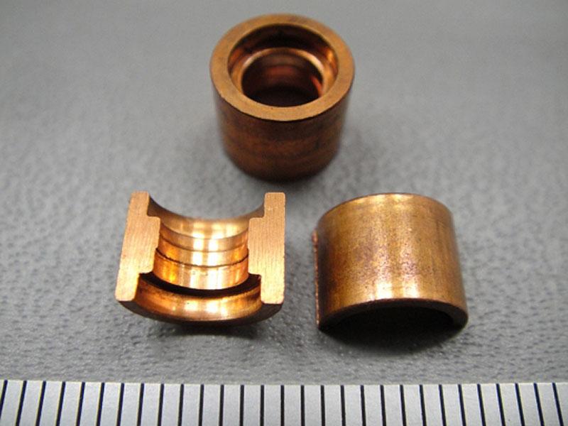 無酸素銅 孔段付貫通部品